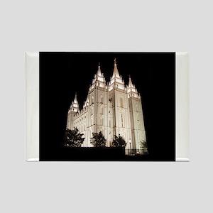 Salt Lake Temple Lit Up at Night s Magnets