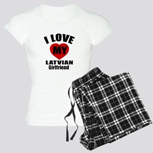 I Love My Latvian Girlfrien Women's Light Pajamas