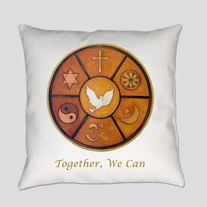 Interfaith, Together We Can - Everyday Pillow