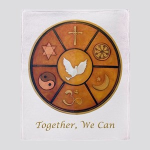 Interfaith, Together We Can - Throw Blanket