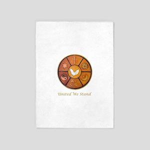 Interfaith, United We Stand - 5'x7'Area Rug