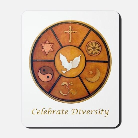 Interfaith, Celebrate Diversity - Mousepad