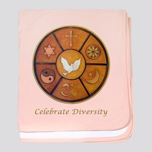 Interfaith, Celebrate Diversity - baby blanket