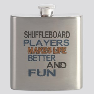 Shuffleboard Players Makes Life Better And F Flask