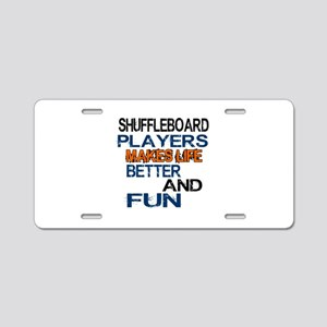 Shuffleboard Players Makes Aluminum License Plate
