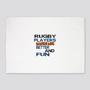Rugby Players Makes Life Better And 5'x7'Area Rug