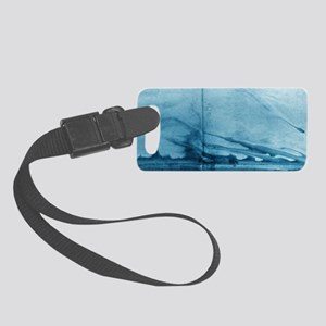 Smoke Curling on Wall by Michell Small Luggage Tag
