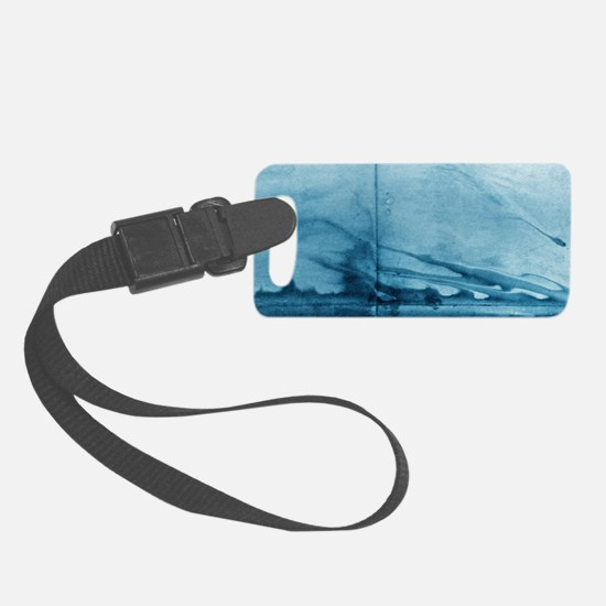 Smoke Curling on Wall by Michell Luggage Tag