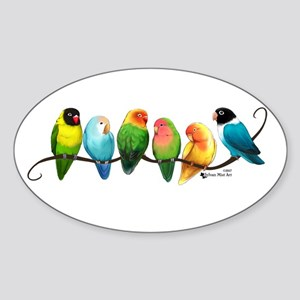 Colorful Lovebirds Sticker