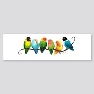 Colorful Lovebirds Bumper Sticker