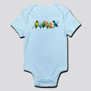 Colorful Lovebirds Body Suit