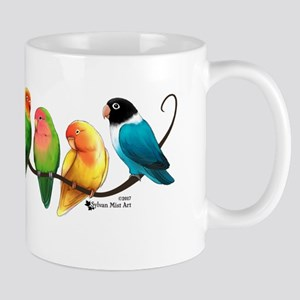 Colorful Lovebirds Mugs