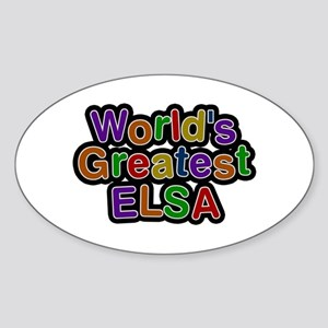 World's Greatest Elsa Oval Sticker