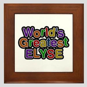 World's Greatest Elyse Framed Tile