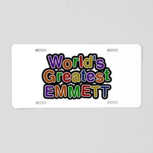 World's Greatest Emmett Aluminum License Plate