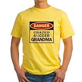 Soccer grandma Mens Classic Yellow T-Shirts