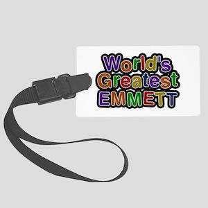 World's Greatest Emmett Large Luggage Tag