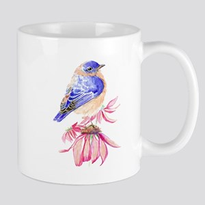Watercolor Eastern Bluebird beautiful garden bird