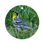 Yellow-throated Warbler Ornament (Round)