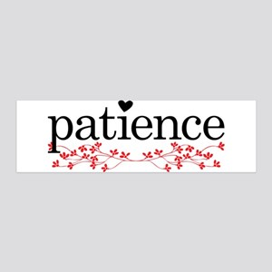 Patience 36x11 Wall Decal