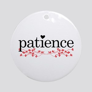 Patience Round Ornament