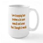 Love Trumping Hate Large Mug