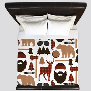 Lumberjack Design King Duvet