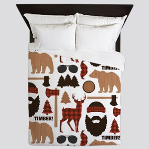 Lumberjack Design Queen Duvet