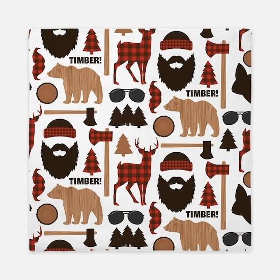 Lumberjack Design Queen Duvet