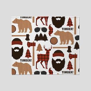 Lumberjack Design Throw Blanket