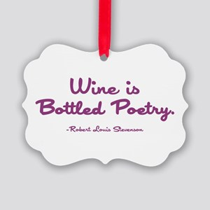 WINE IS... Picture Ornament