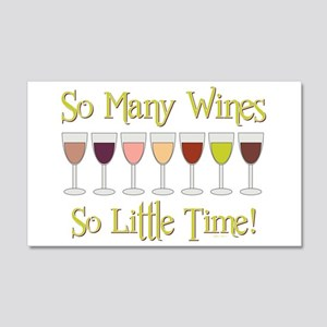 SO MANY WINES... 20x12 Wall Decal