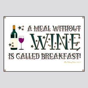 A MEAL WITHOUT WINE... Banner