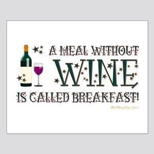 A MEAL WITHOUT WINE... Small Poster