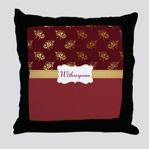 Dusty Rose Gold Personalize Throw Pillow