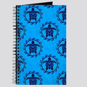 Tribal Turtle Sun Pattern Journal