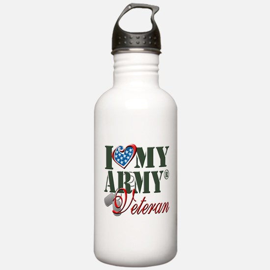 I Love My Army Family Water Bottle
