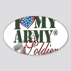 I Love My Army Family Sticker