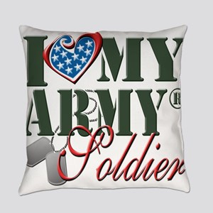 I Love My Army Family Everyday Pillow