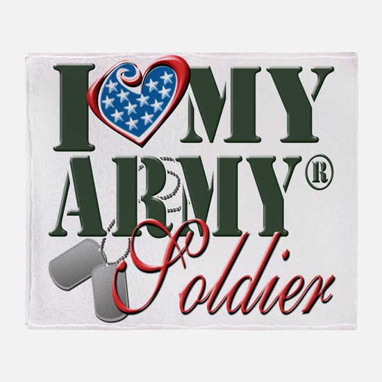 I Love My Army Family Throw Blanket