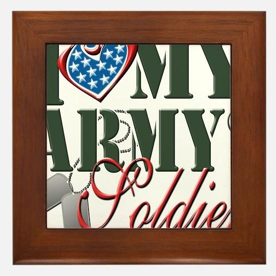 I Love My Army Family Framed Tile