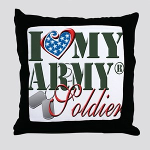 I Love My Army Family Throw Pillow