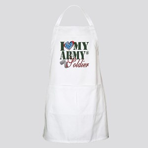 I Love My Army Family Apron