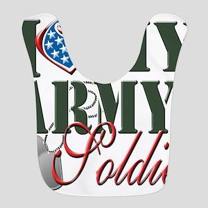 I Love My Army Family Polyester Baby Bib