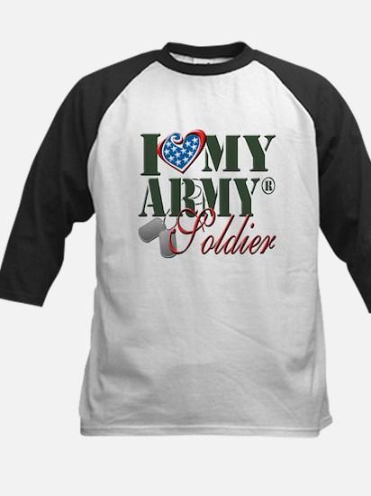 I Love My Army Family Baseball Jersey
