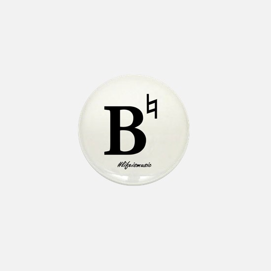 B Natural Mini Button (10 Pack)
