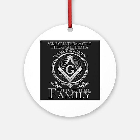 Masons Family Round Ornament