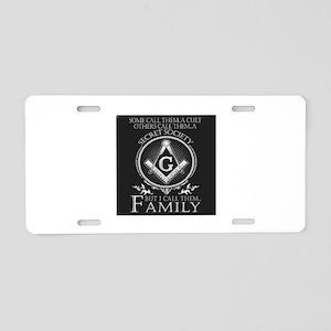 Masons Family Aluminum License Plate