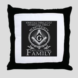 Masons Family Throw Pillow