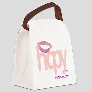 pinkredlogo Canvas Lunch Bag